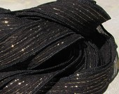 Black Fizz Metallic Ribbon