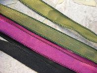 Black Silk Satin Ribbon