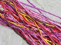 Assortment Red Yellow Orange Silk Cords