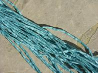 Teal Light 2-3 mm Silk Cords
