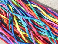 Assortment Bright Silk Cords 2-3mm