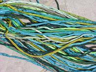 Assortment Greens Silk Cords 2-3 mm Bulk