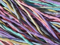 Assortment Pastel Silk Cords 2-3mm
