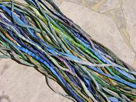 Assortment Green Blue Multi Silk Cords